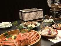 熱々のゆで蟹と丹精込めた懐石料理をお楽しみくださいませ