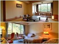 ゆったりと滞在ができる『和室』、シティホテルの気品漂う『洋室』。部屋タイプで感じ方が全く違うのが魅力