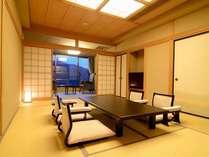 特別室1303号室「和室12畳」~特別室に相応しい和の香漂うお座敷で、旅の思い出に残る安らぎのひと時を。