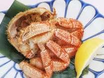 食べやすく調理された毛蟹半身♪