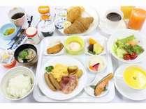 当面の間、朝食バイキングを休止し、和洋朝食セットにてご提供致します。