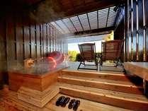 檜の浴槽に足湯とリゾートの贅沢を満喫♪