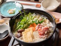 【夕食】地鶏鍋会席