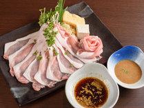 【夕食】黒豚しゃぶしゃぶ