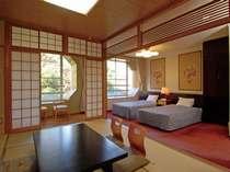 ツインベッドと10畳和室の和洋室タイプ(2009年撮影)