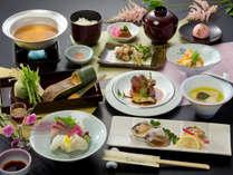 【1泊2食・ラッキープラン】「お手軽会席」で味わう旬の食材をお楽しみください。
