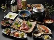 地元の新鮮素材が満載!料理長こだわり「旬の地魚と創作和会席料理でおもてなし。