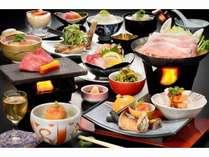 【バリュープラン】山の幸 宴膳 山形牛の石焼き&置賜豚辛味噌鍋
