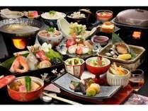 【スタンダードプラン】海の幸・雅膳プラン★鮑の陶板焼き&海鮮寄せ鍋