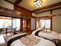 【やまぼうし】専用の露天風呂が付いた離れのお部屋です。周りを気にせず温泉をお楽しみ頂けます。