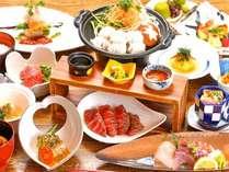 御宿さくら亭:ご夕食)個室で創作会席☆料理長オススメの季節会席となります!
