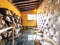 【貸切内風呂】温泉は源泉かけ流しです。※冬場は湯量の安定供給の為、利用出来ない場合あり。