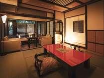 【別棟・離庵山水】山形県出身のデザイナー奥山清行氏がプロデュース。優雅な露天風呂付客室