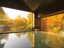 【内風呂】四季を愉しむ大きな窓