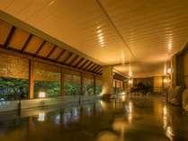 【露天風呂】本館・湯酔郷~昼とは違った落ち着いた雰囲気を愉しむのも◎