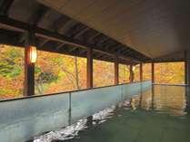 【露天風呂】本館・湯酔郷~秋の紅葉シーズンは紅葉もご覧いただけて◎