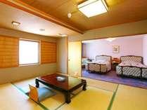 【本館・和洋室】最上階(16階)にございますロイヤルルームAタイプです。
