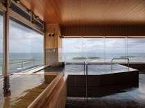 水平線を視界に浸かる2階大浴場♪