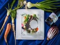 【料理・大地の一皿】淡路島「柴山さんの畑野」と「坊勢島・淡路の魚介」