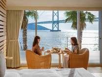 明石海峡を眺めながら…ルームサービス(朝食)