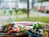 【ラストサマープラン】海鮮BBQとプチ花火で夏の思い出を♪♪