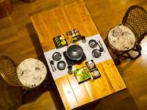 「季の玉手箱」はフォレストコテージ専用のご夕食です。(写真はイメージ)