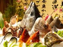 紀伊長島漁港でその日に水揚げされた魚介。