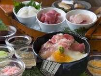 人気の朝食「漁師風飯」