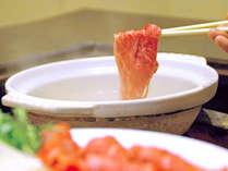 *お夕食一例(和牛しゃぶしゃぶ)/なんと食べ放題!ぜひご賞味下さい。※写真はイメージです。