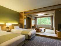 【スタンダード和洋室】名水亭時代の間取りそのままにリフォームした客室です。