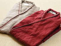【客室】館内着は浴衣のほかに作務衣もございます。