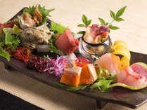 【会席一例】北海道と全国各地のお造り食べ比べ(季節により変更になります)