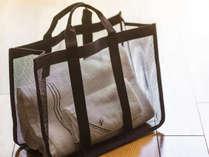 ≪9階以上客室限定≫大浴場へ向かう際のバッグをご用意しております。