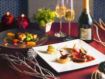 【12/23・24クリスマス特別ディナー】白老牛ステーキや鴨のコンフィなど特別な日にぴったりのディナーを。
