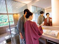 【エグゼクティブルーム】高層階(9階以上)には客室限定アメニティをご用意しております。