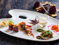 【ZEN・2018年秋】秋の食材を使った歓迎の一皿。