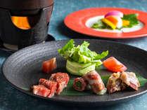 【もりの風茶寮・2019年秋】お肉料理はお好みの焼き加減でお楽しみ下さい。