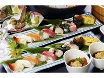 日本海厳選寿司10貫と妙高地酒3種飲み比べプラン