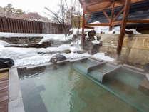 【雪見の露天風呂だんらん乃湯】四季折々の風景と名湯草津温泉をお楽しみください。