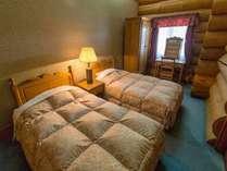 【別棟ログハウス寝室】和洋室タイプ 6108号室一例