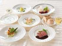 【フランス料理のフルコース】地元の旬・季節の味覚を大切に調理させていただきます。※イメージ