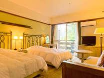 洋室や和洋室、ログハウスなど様々なお部屋があります。