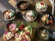 【冬のホットポットフェア】多彩な鍋料理が並ぶ夕食バイキング(イメージ)