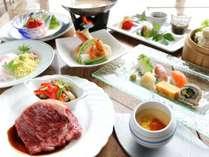 旬を迎える夏野菜、群馬県産食材をふんだんに使用したセットメニュー。
