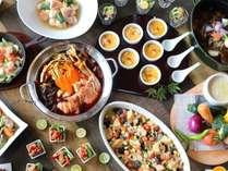 【夕食バイキング】季節の野菜と群馬の郷土料理でおもてなし♪(写真はイメージです)