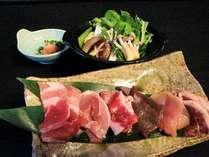 【那須塩原名物・巻狩鍋】会席風料理+猪豚・那須鳥・猪・鹿・きじ・合鴨…6種類のお肉のお鍋♪