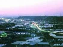 刑部岬から見た夕日と夜景