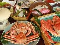 【夕食イメージ】 「国後コース」では羅臼産キンキやシーズンには3大カニが召し上がれます