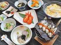 【ご夕食一例】霧多布の旬鮮を少量ずつ味わうプラン