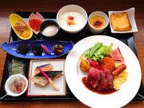 朝食セットメニューの例